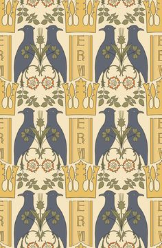 Wish I could afford a Voysey wallpaper like this for the downstairs bathroom!