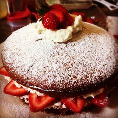 Strawberry short cake.