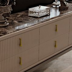 Art Deco Inspired High End 6 Drawer Buffet Sideboard at Juliettes Interiors - Chelsea, London.