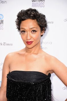 Ruth Negga Short Curls - Ruth Negga looked adorable with her short curls at the Gotham Independent Film Awards.