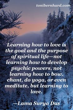 Learning how to love...