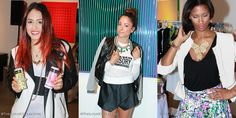 Miami Fashion Bloggers during Fashion Happy Hour (Fiercely Thriftin, Collections and Volumes, A la Mode Maya)