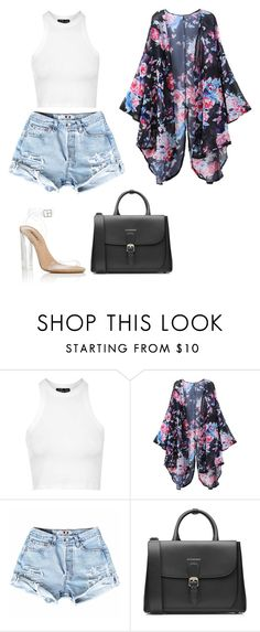 """Untitled #593"" by kylie100 ❤ liked on Polyvore featuring Topshop, YEEZY Season 2 and Burberry"