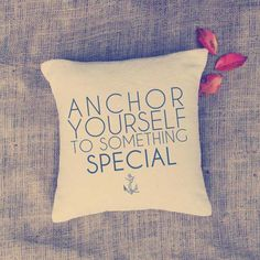 Nautical anchor pillow from Vintage Affair Studio