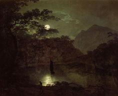 A Lake by Moonlight, ca 1780 -1782, Joseph Wright. English (1734 - 1797)