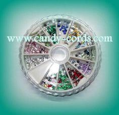 2 Fashion Nail Art Mixed Rhinestone Glitters Acrylic Tips Decor Manicure Shiny