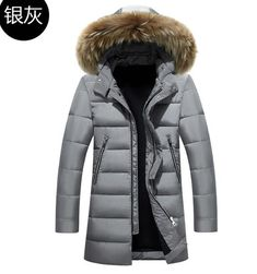 Winter jackets mens Thicker coat in the long section Winter coat men