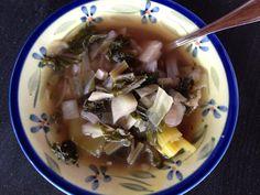 Last Ditch Soup (or magical kale, cabbage, Vidalia, & leek broth)   Washingtons Green Grocer