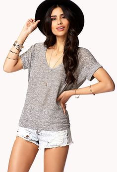 Marled Knit High-Low Top | Forever 21 - 2025102368