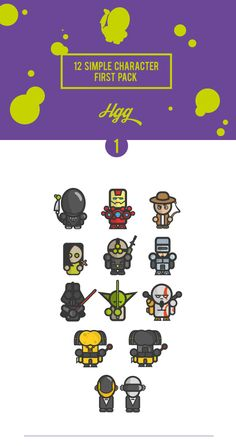 Simple Character 1º Pack_AlienEdition on Behance