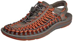 886e082dcc00 Keen men s Uneek Gargoyle Burnt Ochre Sandal 8 D - Medium.  Huarache-inspired sandal with woven-cord upper featuring adjustable  drawcord lacing and ...