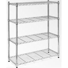 Essential Home Supply Modular Chrome Wire Storage Shelf Steel Shelving