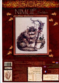 Cat Cross Stitches, Cross Stitch Embroidery, Cross Stitch Patterns, Kobold, Cross Stitch Pictures, Stitch 2, Line Art, Projects To Try, Painting