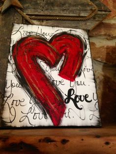 Super Home Is Where The Heart Is Canvas Valentines Day Ideas Diy Canvas, Canvas Art, Canvas Ideas, Painting Canvas, Heart Painting, Beach Canvas Paintings, Heart Canvas, Canvas Prints, Valentine Crafts