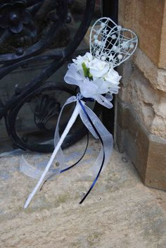Child Bridesmaid's Heart Wand  Contact Nicci Snook Flowers - Specialist in Traditional and Vintage Weddding Flowers on 07739313551. www.facebook.com/niccisnookflowers