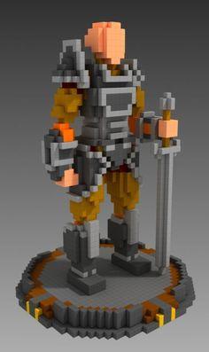 … – Voxel a… - Mine Minecraft World Minecraft Statues, Minecraft Welten, Minecraft Structures, Minecraft Castle, Minecraft Plans, Minecraft Medieval, Mine Minecraft, Amazing Minecraft, Minecraft Survival