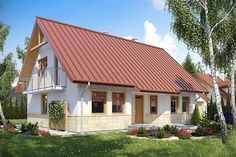 projekt Chociejów DM-6149 KRF1716 French Farmhouse, Home Fashion, House Plans, Shed, Outdoor Structures, Cabin, Architecture, House Styles, Outdoor Decor