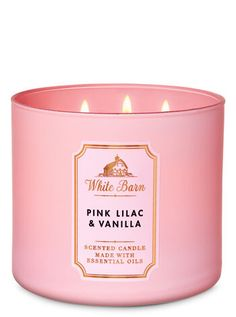 diy Candles bath and body works - Pink Lilac & Vanilla Candle - White Barn Cute Candles, Pink Candles, 3 Wick Candles, Scented Candles, Candle Jars, Bath Body Works, Bath And Body Works Perfume, Bath And Bodyworks, White Barn