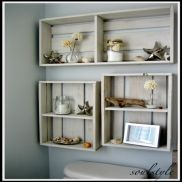crate shelves great for the laundry room!!