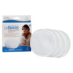 Dr. Browns Washable Breast Pads - 4 Pack