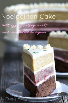 Holiday frosted NOELPOLITAN CAKE