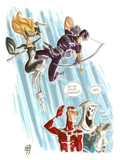 Hawkeye and Mockingbird vs Taskmaster Kate Bishop, Avengers, Hawkeye Marvel, Clint Barton, Captain America, Comic Books, Princess Zelda, Hero, Deviantart