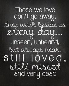 Those we have loved and lost are still with us.