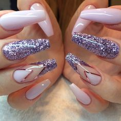 Purple summer-nails by kimmienails on instagram