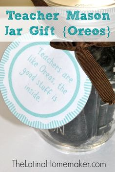 This mason jar gift is a great inexpensive way to show a teacher how much they are appreciated.