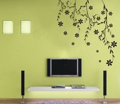Various Colors Willow Vine Flower Decor Mural Art Wall Sticker Decal Y343 | eBay