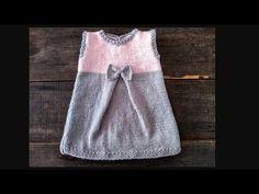 Knitting For Kids, Baby Knitting Patterns, Baby Dress, Knit Dress, Two Piece Skirt Set, Crochet, Dresses, Ideas, Women