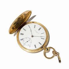 Vintage gold pocket watch (Charles Vacheron & Cie gold hunter watch, Switzerland, around - by Auctionata AG Pocket Watches, Wrist Watches, Men's Watches, Wedding Accessories, Men's Accessories, Gold Pocket Watch, Hyperrealism, Watch Case, Watches For Men