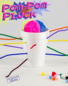 Styrofoam cup & pipe-cleaners = homemade Ker Plunk!