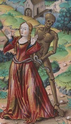 Bibliothèque nationale de France, Français 1537, detail of f. 23r. Chants royaux sur la Conception, couronnés au puy de Rouen de 1519 à 1528. 16th century