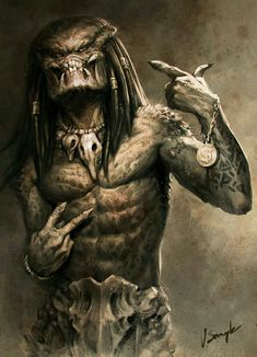 Thug Life Predator by Vitalii Smyk Alien Vs Predator, Predator Movie, Predator Alien, Predator Helmet, Arte Alien, Alien Art, Foto Fantasy, Dark Fantasy Art, Cartoon Kunst