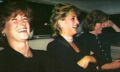Princess Diana having a wonderful time with her two sisters, Jane and Sarah