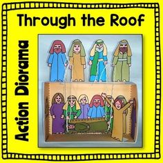 Through The Roof Action Diorama Bible Craft