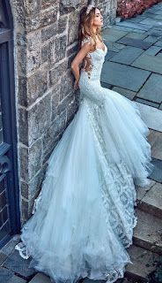 Mermaid Wedding Dresses Galia Lahav bridal spring 2017 cap sleeves sweetheart mermaid wedding dress (ms elle) sv train - Ready to have your day officially made? Grab a cup of tea and get yourself comfortably seated because today we have Blue Wedding Dresses, Classic Wedding Dress, Perfect Wedding Dress, Bridal Dresses, Wedding Blue, Spring Wedding, Wedding Gowns, Vestidos Vintage, Mermaid Dresses