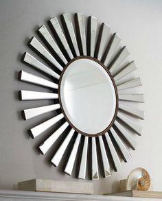 7 super-size sunburst mirrors - big statement pieces for your living room - Retro Renovation House Of Mirrors, Living Room Mirrors, Wall Mirrors, Sunburst Clock, Starburst Mirror, Sun Mirror, Floor Mirror, Modern Vintage Decor, Mirror Shop
