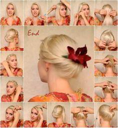 Medium Hairstyle Tutorials - Twist Updos