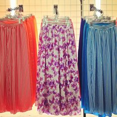 For all those chiffon fans... These will be at the Factory Flea Market on Friday! #chiffon #summer #skirts #factoryfleamarket #AmericanApparel