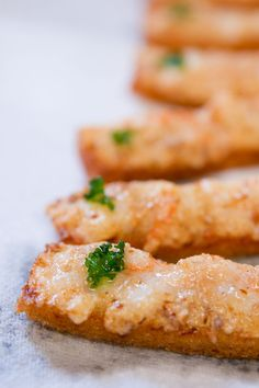 Shrimp Toast _ Originally a Chinese appetizer called Hatosi (蝦多士) or shrimp toast, this is a simplified version that makes for a great party canapé.