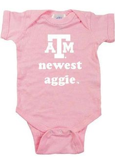 Texas A&M Aggies Baby Creeper - Pink Texas A&M Newest Romper http://www.rallyhouse.com/shop/texas-am-aggies-texas-am-aggies-baby-creeper-pink-texas-am-newest-romper-10190024?utm_source=pinterest&utm_medium=social&utm_campaign=Pinterest-TexasAMAggies $15.95