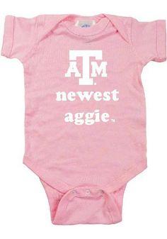 Texas A&M Aggies Baby Creeper - Pink Texas A&M Newest Romper http://www.rallyhouse.com/shop/texas-am-aggies-texas-am-aggies-baby-creeper-pink-texas-am-newest-romper-10190024?utm_source=pinterest&utm_medium=social&utm_campaign=Pinterest-TexasAMAggies $15.95