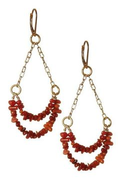 Coral Chandelier Earrings by Forces of Nature: Jewelry Event on @HauteLook $30