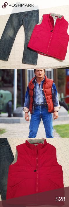 Marty McFly Costume! Baby Gap and Levi's 4T! Could be worn as a costume or just a super cute outfit. Puffer vest has tiny marker spot. No other signs of wear for this outfit. GAP Matching Sets