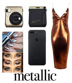 """""""metallic"""" by pugloverpusheen ❤ liked on Polyvore featuring Boohoo"""