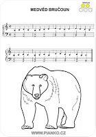Bear music sheet for kids (piano)