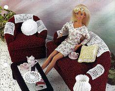 Santa Fe Style Living Room Barbie Furniture by grammysyarngarden