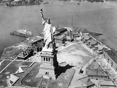 On October 28, 1886, The Statue of Liberty was dedicated by President Grover Cleveland! #statueofliberty #monuments